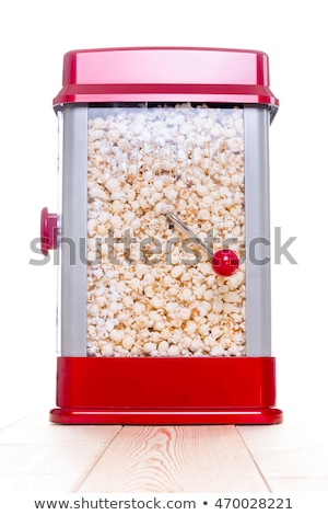 Cute red popcorn popping device Stock photo © ozgur