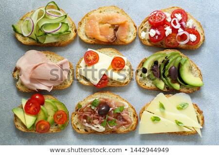 salad with bruschetta Stock photo © M-studio