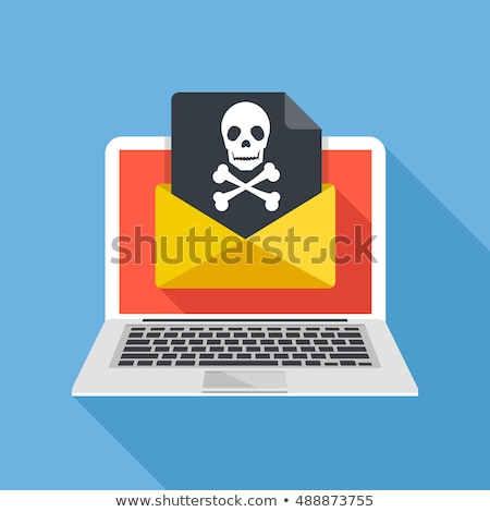 flat design hacker long shadow icons stock photo © genestro