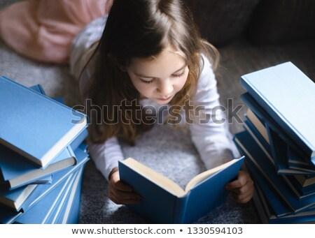 Little girls studying Stock photo © bluering