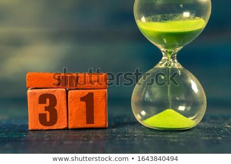 primeiro · calendário · 3d · render · vermelho · branco · número - foto stock © oakozhan