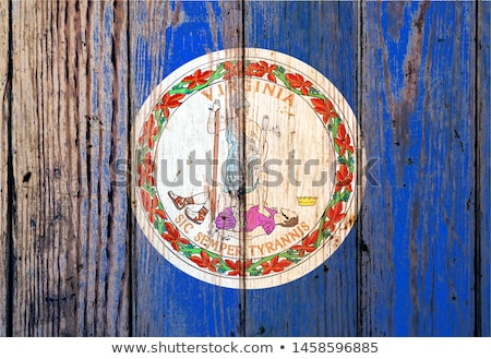 American national colors painted on fading wooden boards  Stock photo © tab62
