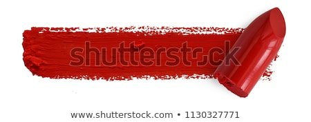 batom · vermelho · vetor · isolado · branco - foto stock © rogistok