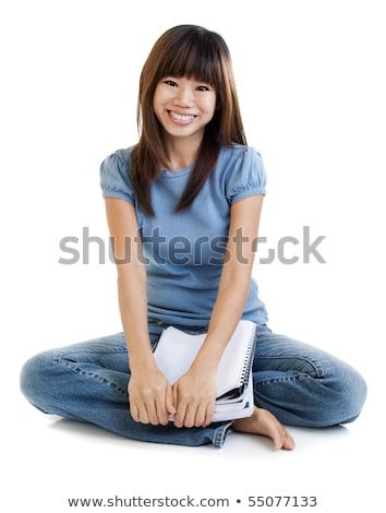asian · vrouwelijke · student · gelukkig · afstuderen - stockfoto © szefei
