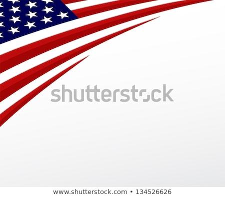 Paz bandera aislado blanco signo azul Foto stock © doomko
