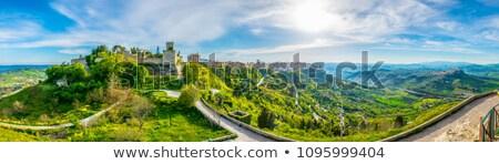 Sycylia wieża budynku krajobraz kamień Europie Zdjęcia stock © elxeneize