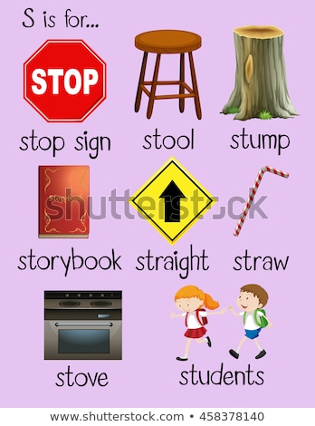 Alfabeto sgabello illustrazione ragazzi bambino sfondo Foto d'archivio © bluering