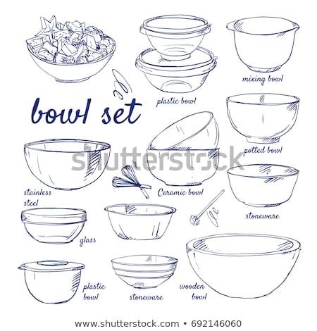 cocina · mano · mezclador · icono · gris · verde - foto stock © rastudio
