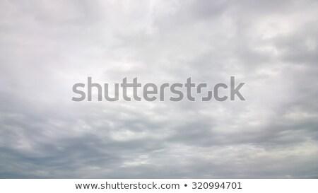 劇的な 青空 グレー 雲 春 日没 ストックフォト © lunamarina