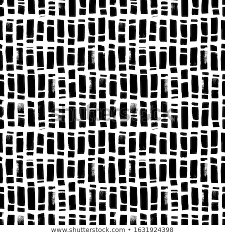 Vector Seamless Hand Drawn Vertical Grunge Dash Strokes Pattern Stock photo © CreatorsClub