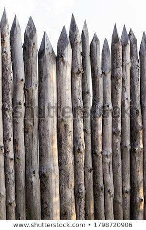 clôture · design · fond · métal · pierre · sécurité - photo stock © devon