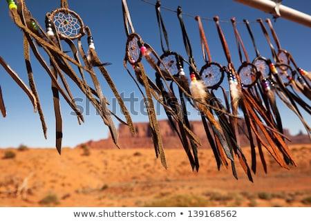 ネイティブ · アメリカ先住民 · 日没 · 実例 · 男 · 自然 - ストックフォト © adrenalina