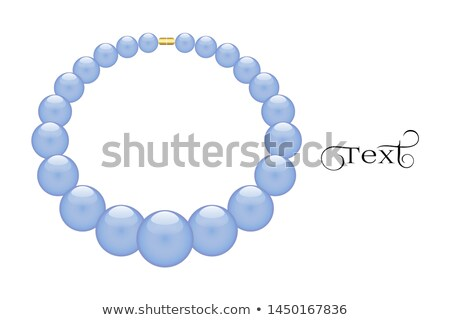 Kamień szlachetny odizolowany biżuteria niebieski kamień biały Zdjęcia stock © MaryValery
