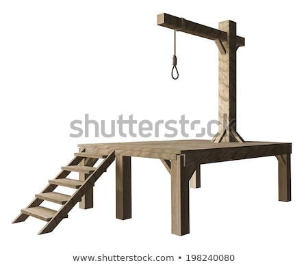 gallows on white background isolated 3d image stock photo © iserg
