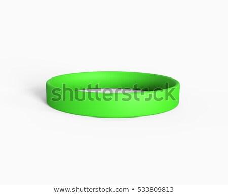 green rubber bracelet 3d stock photo © djmilic