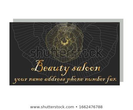 Poppy logo. Red flower emblem. Symbol Flower Shop Stock photo © popaukropa