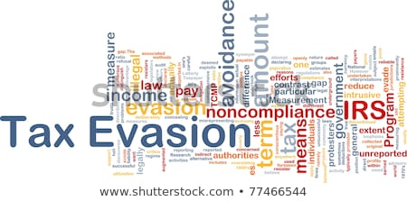 Tax evasion definition Stock photo © stevanovicigor