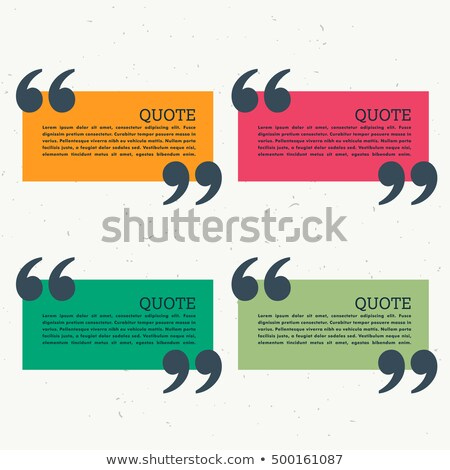 set of colorful four chat bubbles with quotation mark Stock photo © SArts
