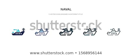 Naval Ships Set Military Ship or Boat Used by Navy Stock photo © robuart
