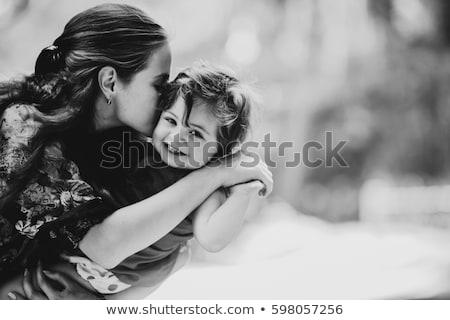 Gyönyörű fiatal nő kisgyerek boldog tart jóképű Stock fotó © svetography