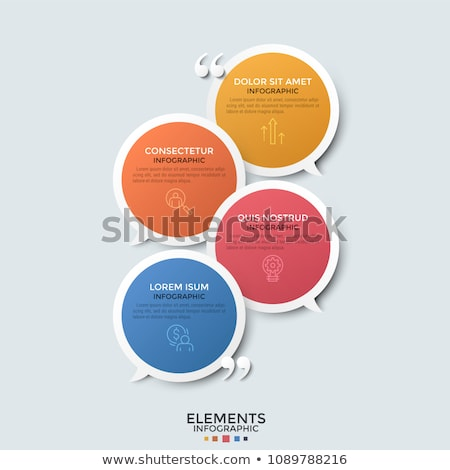 clean chat bubble with quotation message Stock photo © SArts