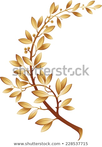 Image laurier branche sport feuille silhouette Photo stock © fresh_5265954
