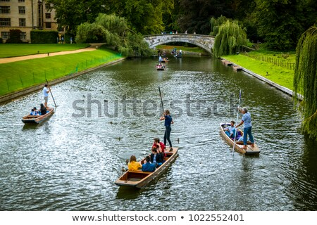 river cam with house boats in Cambridge Stock photo © meinzahn