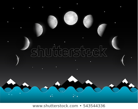 Midnight sky with full moon above river landscape Stock photo © TasiPas