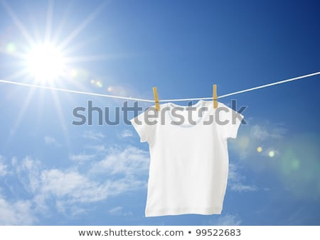 t shirt with drying on clothesline stock photo © kayros