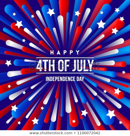 colorful fireworks for independence day of america vector stock photo © -baks-