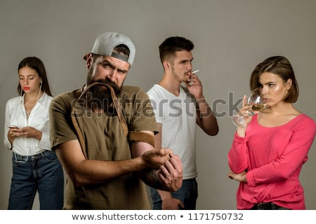 Hopeless drug addict going through addiction crisis Stock photo © stevanovicigor