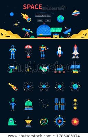 badania · naukowe · astronauta · nowego · planety - zdjęcia stock © curiosity
