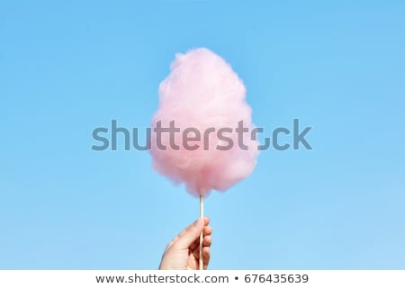 hand holding cotton candy Stock photo © tekso
