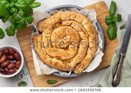Grecki szpinak pie plastry domowej roboty Zdjęcia stock © mpessaris