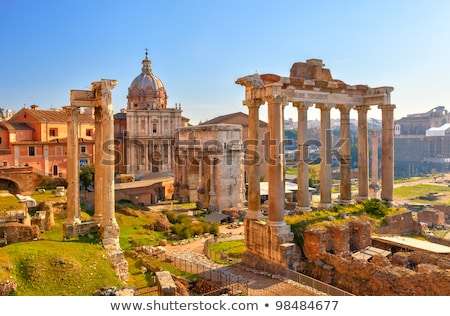 forum   roman ruins in rome italy stock photo © neirfy