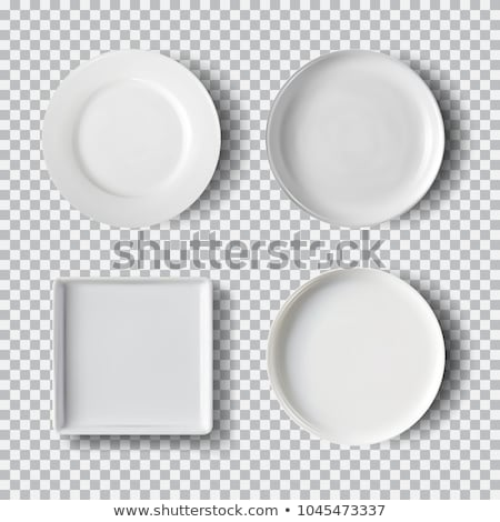 Transparent Round Circle Set Vector Realistic Illustration. Flat Glass Circle. Glass Plate. Stock photo © pikepicture