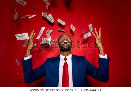 молодые деньги дождь успешный бизнесмен Постоянный Сток-фото © RAStudio