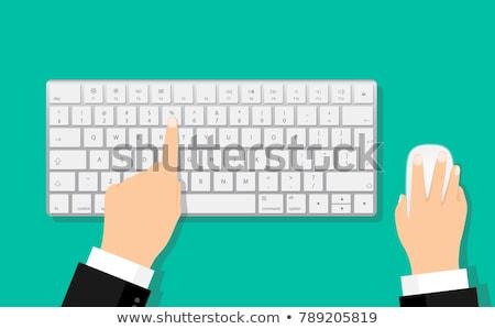 Input on Laptop in Modern Workplace Background. Stock photo © tashatuvango