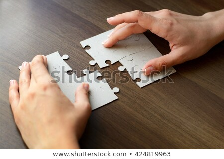 independiente · rompecabezas · ilustración · blanco · textura - foto stock © ratkom