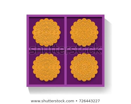 Chino luna torta caja de regalo superior Foto stock © jiaking1