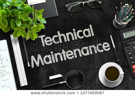 fekete · tábla · karbantartás · szolgáltatás · 3D · renderelt · kép - stock fotó © tashatuvango