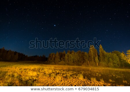 Moor and lake at night under starlight Stock photo © manfredxy