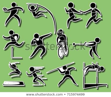 Sport ikonok különböző útvonal mező események Stock fotó © bluering