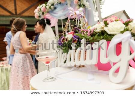 Bruiloft paar man bruid portret toekomst Stockfoto © IS2