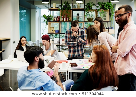 Team of international architects working Stock photo © IS2