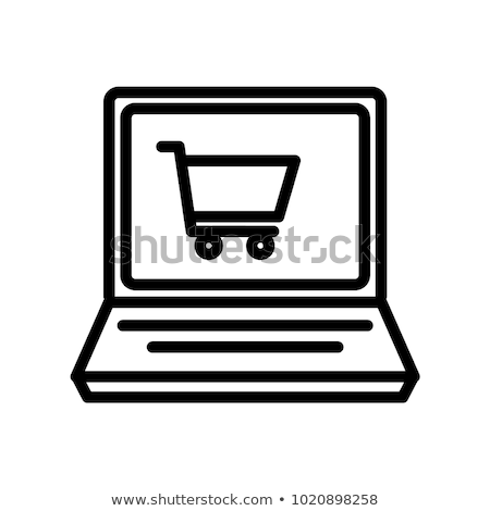 Ikona sklep internetowy koszyka liniowy stylu sprzedaży Zdjęcia stock © Olena