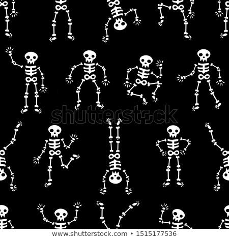 pointing cartoon skeleton stock photo © krisdog