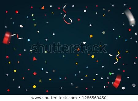 аннотация красочный конфетти лента темно бумаги Сток-фото © articular