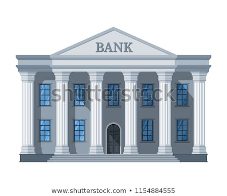 Banco edificio aislado financieros institución vector Foto stock © MaryValery