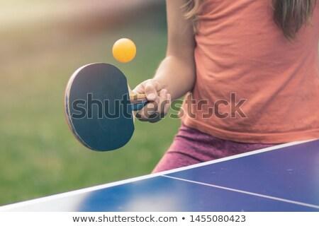 девочек играет настольный теннис улице женщину лет Сток-фото © IS2